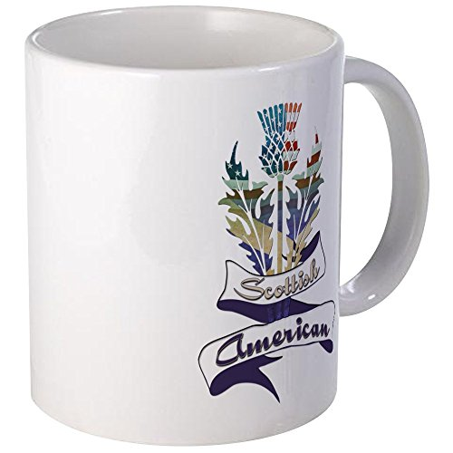 (CafePress Scottish American Thistle Mug Unique Coffee Mug, Coffee Cup)