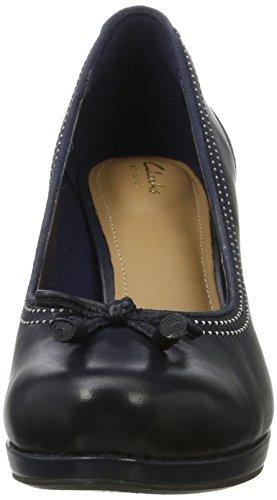 Femme Escarpins navy Bleu Chorus Clarks Leather Bombay HEtqA