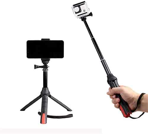 Color : Black, Size : One Size Jdeepued Tripod Portable Tripod Travel Tripod Outdoor Compact Aluminum Monopod Suitable for Mobile Digital SLR Camera Travel and Work Suitable for Getting Started