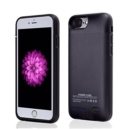 YiYunTE Funda Batería iPhone 7 Plus Case Carcasa Con Batería Cargador-batería Externa Recargable 4300mAh Para iPhone 7 Plus/6S Plus/6 Plus (Rejo) Negro