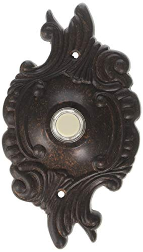 Opulent Round Door Chime Button in Toasted Sienna