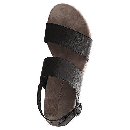Paul Green Sling Sandalette MASTERCALF, Farbe: Schwarz Schwarz