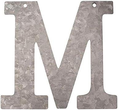 Metal Letra R galvanizado Altura 12 cm Alfabeto Iniciales