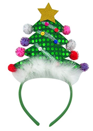 - Decorative Christmas Tree with Star Holiday Party Headband Accessory
