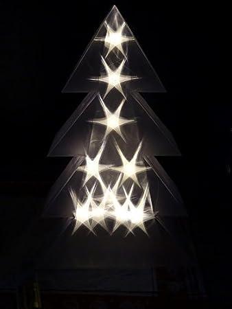 LED Christmas Tree Holographic 3D 10LEDs Warm White LED Tree ...
