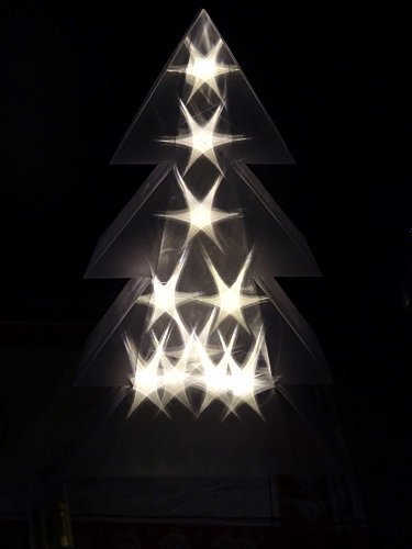 LED Christmas Tree Holographic 3D 10LEDs Warm White LED Tree 10Warm White  LED Lights-40cm - LED Christmas Tree Holographic 3D 10LEDs Warm White LED Tree 10Warm