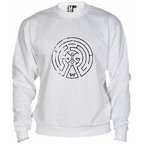 By Bikerella Felpa Unisex nero Bianco Labirint Westworld wqIqOr