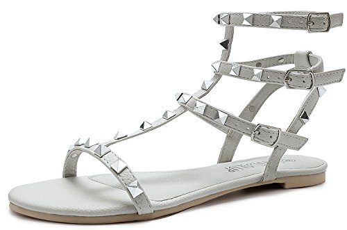 Sporco Bianco Caviglia alla Donna Cinturino SANDALUP qPw4XX