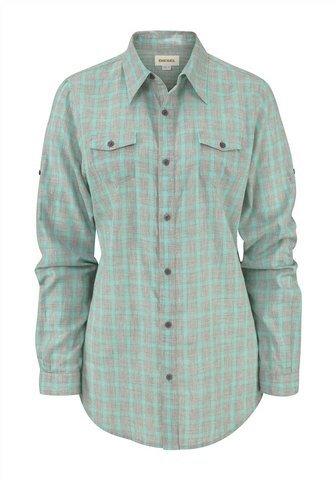 Diesel t-shirt gris à carreaux gracey pour femme turquoise/115254/b.48