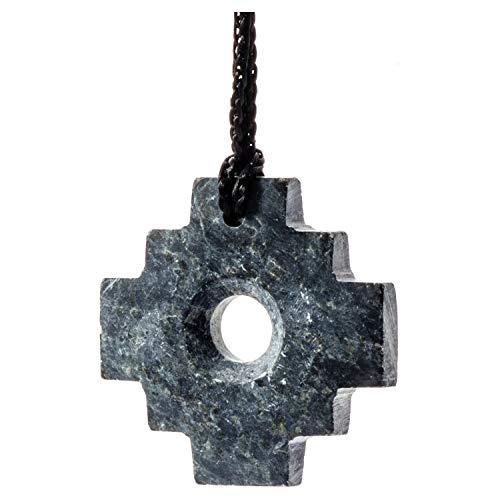 Peruvian Chakana Necklace - Machu Picchu Stone - Matte