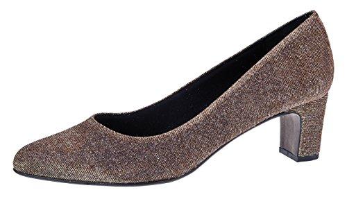 Fiarucci Schuhe Pumps Foam Bronze Bequem Gold Anya Blockabsatz Cameleon Gepolster Tanz 00rdqw