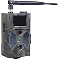 E-TECHING Trail Camera 1080P HD 12MP MMS Email Infrared Digital Game Camera Trail Camera with Integrated 2 LCD Screen (Camo Green)