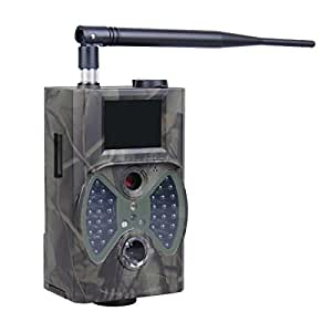 """E-TECHING Trail Camera 1080P HD 12MP MMS Email Infrared Digital Game Camera Trail Camera with Integrated 2"""" LCD Screen (Camo Green)"""