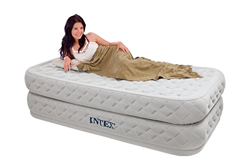 GREAT TWIN BED AIR MATTRESS WITH BUILT IN PUMP - A UNIQUE DESIGN PROVIDES THE ULTIMATE COMFORT FOR LUXURIOUS SLEEP (Intex Air Bed Patch Repair Kit compare prices)