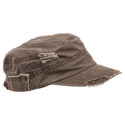 Enzyme Frayed Army Caps - e4Hats.com Frayed Enzyme Special Army Cap-Brown OSFM