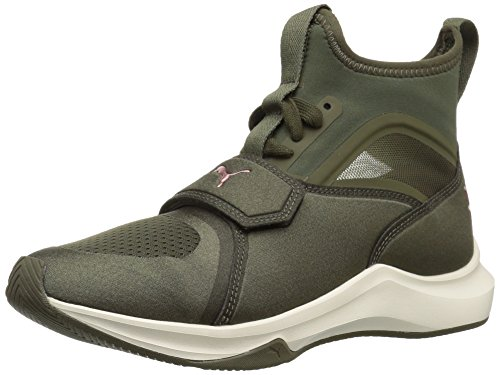 PUMA Women's Phenom Wn Sneaker, Olive Night-Whisper White, 9.5 M US (Sneakers Green Puma)