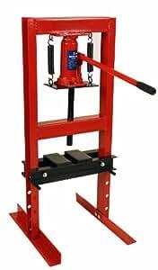 Premium Steel 6 Ton, 12,000 lbs Hydraulic Bench Top Shop Press with Press Plates