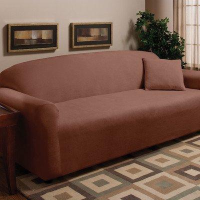 Stretch Microfleece Sofa Slipcover Color: Natural
