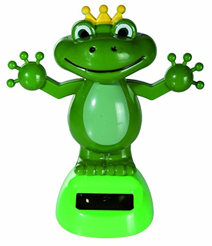 Solar Powered Dancing Moving Frog With Crown Figurine - Watch It Dance