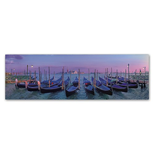 Venice Gondolas Wall Decor by John Xiong, 6 by 19