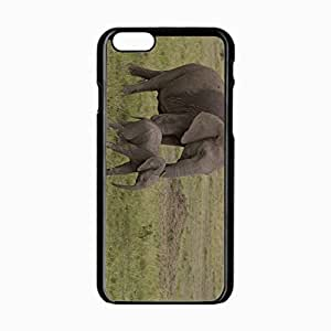 iPhone 6 Black Hardshell Case 4.7inch elephant elephant africa nature Desin Images Protector Back Cover