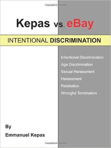 eBay: INTENTIONAL DISCRIMINATION: Emmanuel Kepas: 9781440146817: Amazon.com: Books