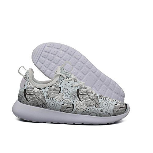 Training Night Of owl YANYANGer mesh Lightweight Sleep Women Pattern time Sneaker Running Track Graphic Shoes Young Fashion qvaIXv