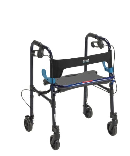 Drive Medical Deluxe Clever Lite Rollator Walker with 5