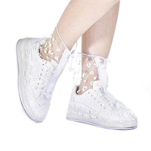 Chaussures De Antidérapant Léopard Pluie Imprimé Pour Couvertures Bottes Yeshi Jaune Femme Portable Imperméables 4wT8qWwB0