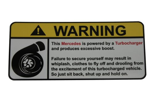 - Mercedes Warning Turbocharger, Warning decal, sticker