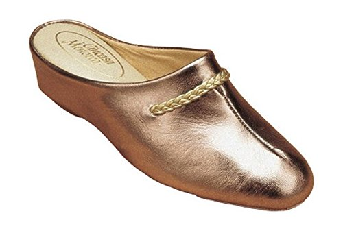 Cincasa Menorca Galdana Ladies Slipper Ladies Slippers Leather - PEWTER Pewter