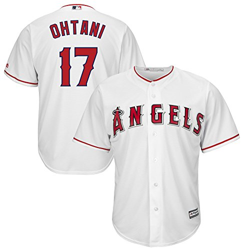 Shohei Ohtani Los Angeles Angels #17 White Youth Cool Base Home Replica Jersey (Large 14/16)