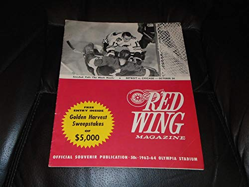 1962 1963 CHICAGO BLACK HAWKS AT DETROIT RED WINGS NHL HOCKEY PROGRAM ()