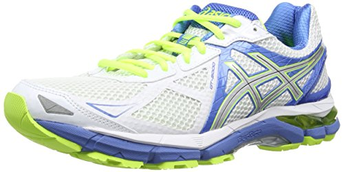 ASICS Gt-2000 3, Damen Laufschuhe Training, Weiß (White/Lightning/Powder Blue 193),Gr. 40 EU / 6.5 UK