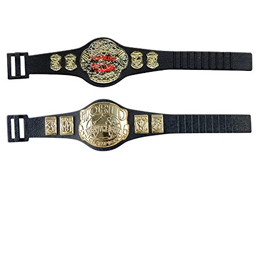 New Wwe Belt - WWE Set of 2 Different Wrestling Action Figure Championship Belts