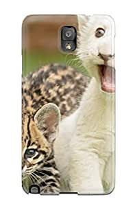 JLaBapD1276QEMKD Tpu Case Skin Protector For Galaxy Note 3 Tiger And Lion Cubs Playing With Nice Appearance