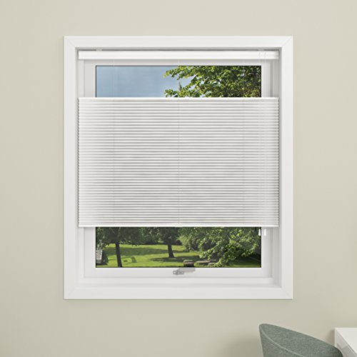 DEBEL Pleated Blind Touch Split 80×160 cm, 89.70×7.50×4.80 cm, White