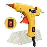 Hot Glue Gun, TOPELEK 15W/25W Switch Dual Power Mini Glue Gun Kit with 30pcs Glue Sticks, Anti-hot Cover Flexible Trigger for DIY Small Craft Projects, Home Quick Repairs, Festival Decoration