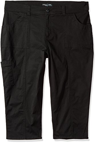- Riders by Lee Indigo Women's Plus Size Cuffed Cargo Pocket Skimmer Pant, Black, 26W