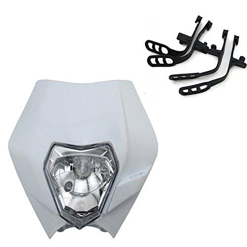 TC-Motor White Headlight Front Head Light For Honda XR CRF CR 50 70 80 100 150 200 250 450 MX Motocross Dirt Pit Motor Bike (Crf 450 Motor)