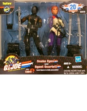 ToyFare Exclusive G.I. Joe Agent Scarlett & Snake Eyes Action Figures 2-Pack (Gi Joe Scarlett)