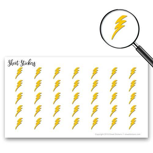 Lightning Bolt, Sticker Sheet 88 Bullet Stickers for Journal Planner Scrapbooks Bujo and Crafts, Item -