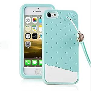 GJY Colorful 3D Soft Silicone Chocolate Ice Cream Case for iPhone 5/5S(Assorted Colors) , Chocolate
