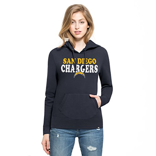 '47 NFL San Diego Chargers Women's Headline Pullover Hoodie, Large, Fall -