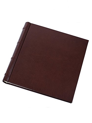 Cozzi - Dark-brown leather photo album by Cozzi Legatoria