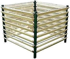 123home24.com Estable compostador Fabricado con Madera y Metal ...