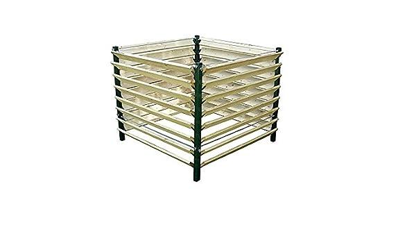 123home24.com Estable compostador Fabricado con Madera y ...