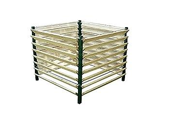123home24.com Estable compostador Fabricado con Madera y Metal, ...