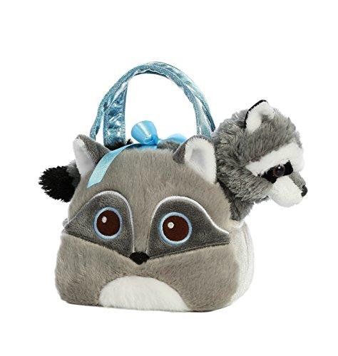 (Aurora World Fancy Pals Pet Carrier Bright Eyes Raccoon Plush)