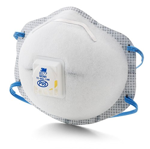 3M 8577 P95 Particulate Respirator with Nuissance Level Organic Vapor Relief (Pack of 60) by 3M (Image #2)